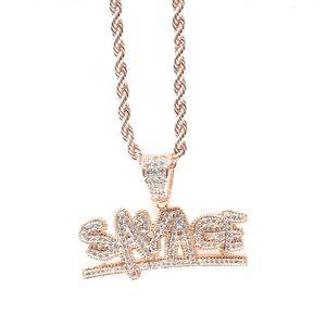 Other - Rose Gold Finish Lab Diamond SAVAGE Charm Chain